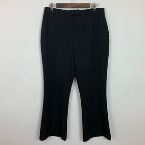 Topshop high waisted black crop kick flare pant 10